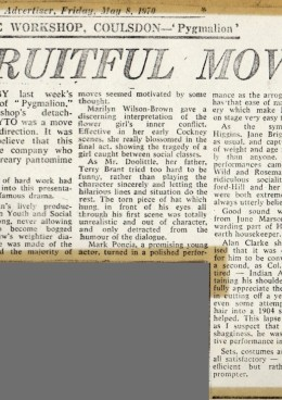 Pygmalion Review - May 1970a